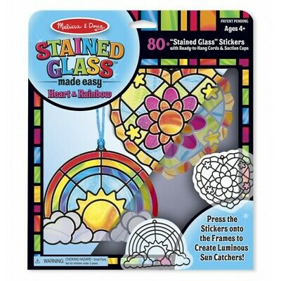 Melissa and Doug Stained Glass Made Easy - Heart & Rainbow
