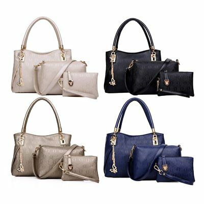 3pcs/Set Women Bag Elegant PU Leather Handbag Messenger Bag Small Wallet Bag DZ