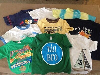 Boy's 9-piece lot t-shirts size 2T/24 months short sleeves