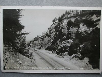 US 70 Between Crossville And Rockwood, Tennessee Real Photo Postcard 1940's