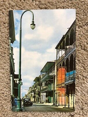 Louisiana LA New Orleans French Quarter Creole Architecture Postcard Old Vintage