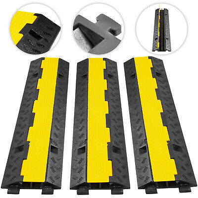Passage De Cable Sol 3Pcs 2Canaux Channel Profile 11000lbs Cable Protector Ramp