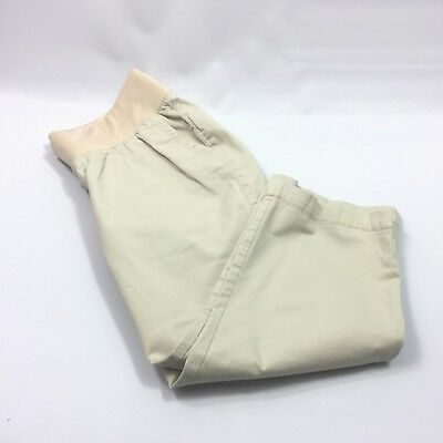 Old Navy Maternity Khaki Womens Size 6 Capri Shorts Stretch Band     H