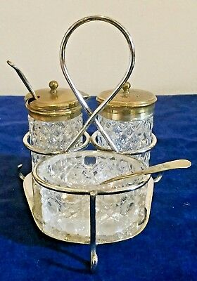 EPSN Table Cruet Set ( Salt, Pepper, Mustard) , HC & Co (1886-1935) Sheffield