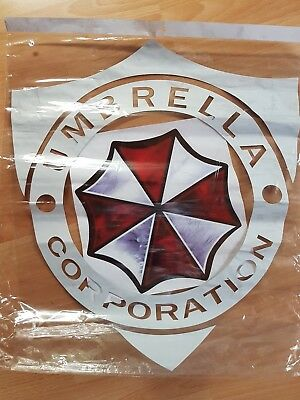 2x Resident Evil Umbrella Corporation Sticker Auto Aufkleber Car weiss XXL