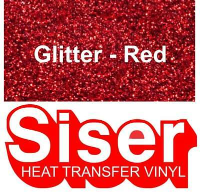 "12"" Red Glitter - Siser EasyWeed Heat Transfer Vinyl Roll- Iron On HTV"