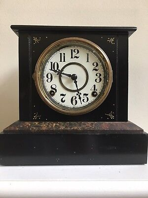 Antique EN Welch Iron Mantle Clock