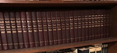 10 VOLUMES OF Britannica Book of the Year 1963-1972, Events
