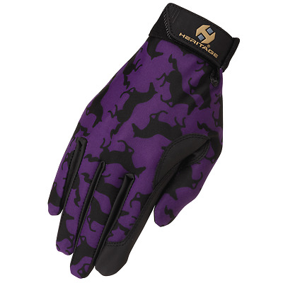 Heritage Performance Gloves-Gallop (Purple/Black)-6