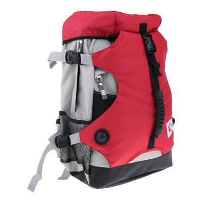 Quad Roller Skate Bag Shoulder Backpack Skates Storage Pouch Rucksack Red