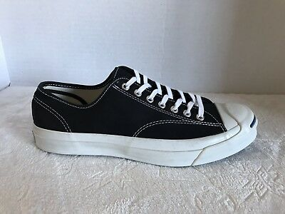 65f22a414f4615 Converse Jack Purcell Signature OX Black White Low Top Mens Shoe 147560C Sz  9
