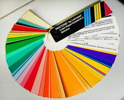 Pantone by Letraset Farbfächer, Color Paper / Coated A-3 Selector gebraucht