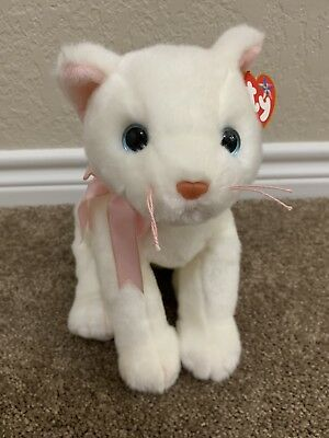 TY FLIP the CAT BEANIE BUDDY - MINT with MINT TAGS White Plush Kitty Buddies f35a5986d94e