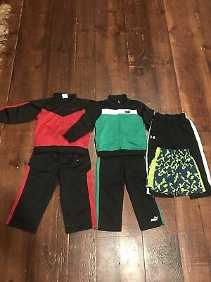 Nike, Puma and Under Armour Boys Clothes, Lot Of 6 Pieces, Size 18-24 Months