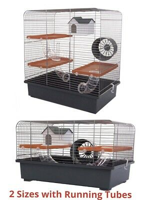 Hamster Cage House & Running Tubes Large For Pet Hamster, Syrian In Options
