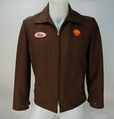 Vintage Shell Gas Station Mechanic's Jacket 40 Reg