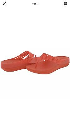 fdfbbcc5c0d7 Fitflop Womens Ringer Welljelly Flame Flip-Flops Sandals 10 M Retail  139