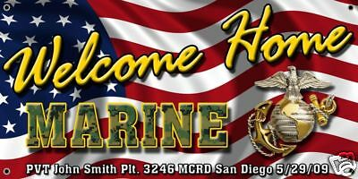 Usmc Marine Corps Welcome Home Banner Poster Sign