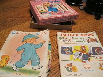 1950s-1960s Vintage Cloth Book Set 'First Set of Books for Baby' w/original box…