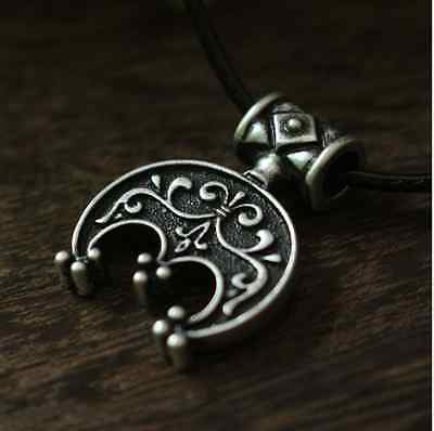 Lunula Three Horn Slavic Norse Viking amulet moon talisman necklace jewelry