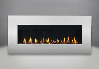Plazmafire WHD48 - Wall Hung Gas Fireplace w/ Stainless Steel Surround