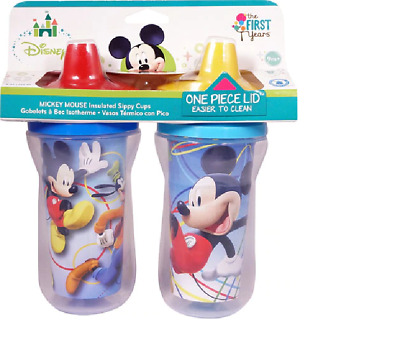 The First Years Meal Mates Insulated Hard Spout Sippy Cup - Mickey Mouse 2 Pack