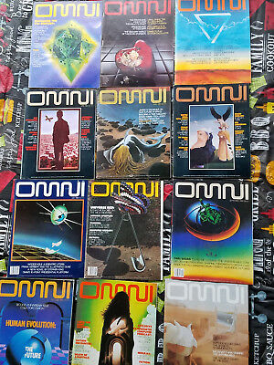 Omni Magazine Lot Of All 12 Issues From 1980 Sci-Fi Science Fiction Art Stories