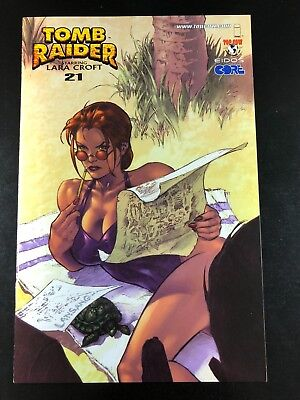 Tomb Raider 21 Swimsuit Variant Top Cow Image 01/00 Green Lansang Sibal G4