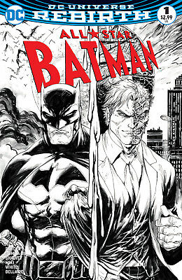 All-Star Batman 1 Midtown Exclusive Tyler Kirkham Black & White Variant Cover NM