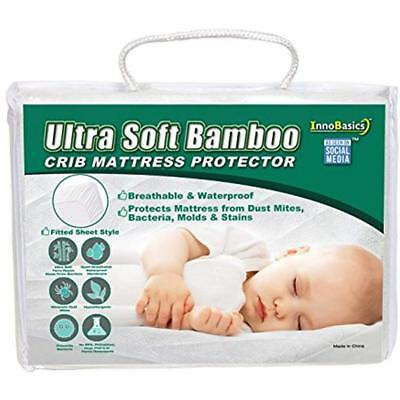 Super Soft Mattress Pads Bamboo Crib Protector Made With Eco-Friendly Rayon Baby