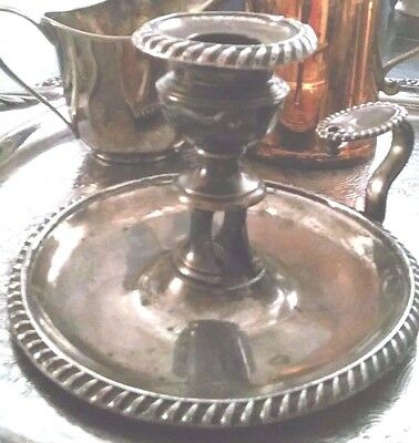 ANTIQUE candlestick 1840s-1850s Maker is Padley, Parkin & co Sheffield England