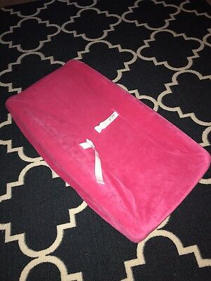 EUC! Baby Changing Table Pad Cover Contoured Diaper Change Infant PINK