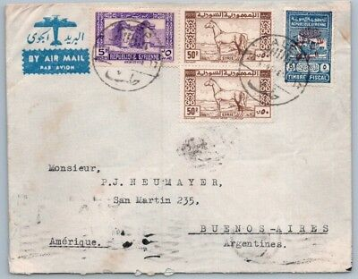 GOLDPATH: Syria cover, 1946, To Argentina, CBHW_05_02