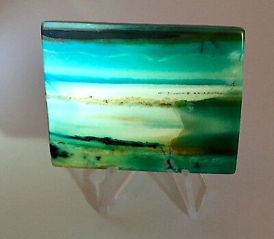 18.8g Indonesian Blue Opalized Petrified Wood Natural Landscape Picture Design
