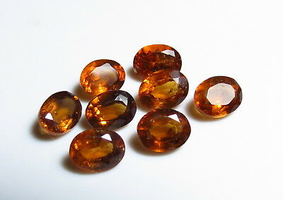 6x5mm NATURAL ORANGE HESSONITE faceted VS LOOSE GEMSTONE 1.5ct from nat. rough
