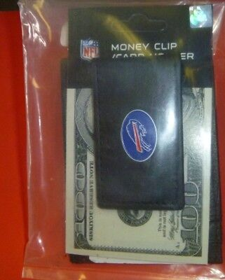 Buffalo Bills NFL money clip and card holder Leather NEW