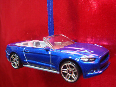 2015 16 17 Ford Mustang Gt Convertible Blue Adorno Christmas Tree Ornament