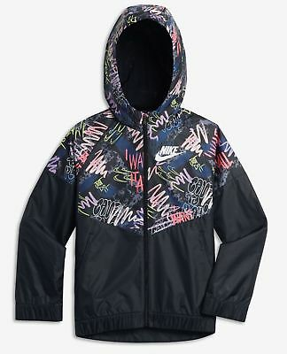 9ae97f55f3c NIKE SPORTSWEAR WINDRUNNER BIG KIDS GIRLS PRINTED JACKET 943353-010 SIZE  Medium