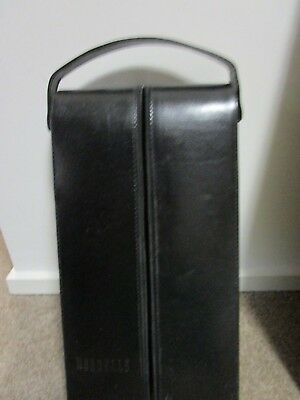 BLACK  Leather LOOK Mercedes Benz Wine Cooler Case +FOR BOTTLE PLUS Wine Glasses