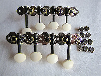 Mandolin F-Style Chrome  Engraved Geared Tuners Machine Heads