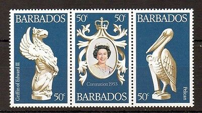 Barbados 1978 25th Anniversary of Coronation MNH set