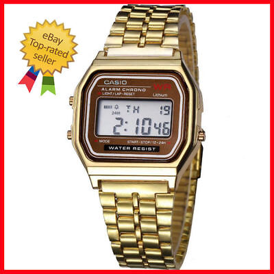 VINTAGE RETRO CASIO WATCH with time alarm GREAT SHAPE gold