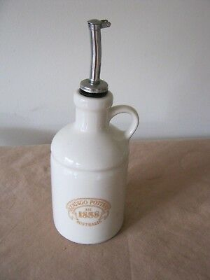 Oil Bottle. Made by BENDIGO POTTERY. With Dropper.