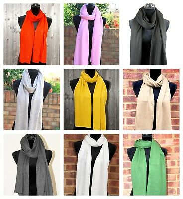 Cashmere Scarf Knitted Muffler Mens Ladies Ideal Christmas Gift Soft Warm Winter