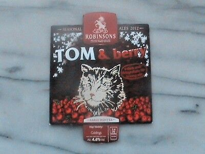 Robinsons Tom & Berry real ale beer pump clip sign christmas theme