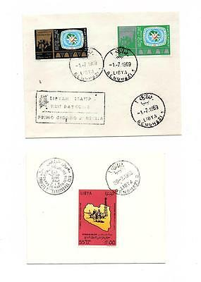 "Libya Libia 10 First Day Covers Collection - ""benghazi"" Cancel Lot (Lyb -005)"