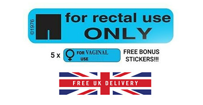 For Rectal Use Only - Stickers (50 + 5 bonus stickers! ) - Fast despatch! Fun!!!