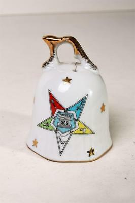 ORDER OF THE EASTERN STAR OES Bell White & Gold NEW Masonic New England Estate