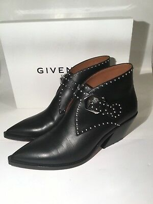 05e6a953dd3 GIVENCHY ELEGANT STUDDED western ankle boots size 38.5