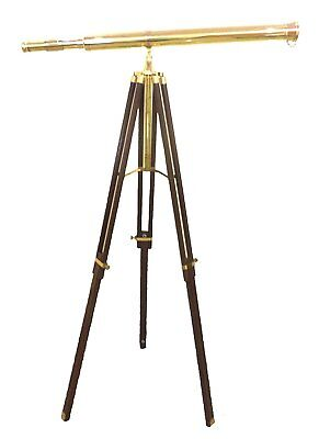 Solid Brass Nautical Port Marine Navy Telescope Single Barrel Brass Finish